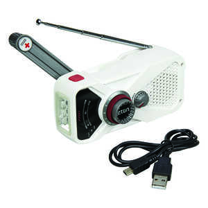 American Red Cross  Digital  Battery Operated  Weather Alert Radio Flashlight  White