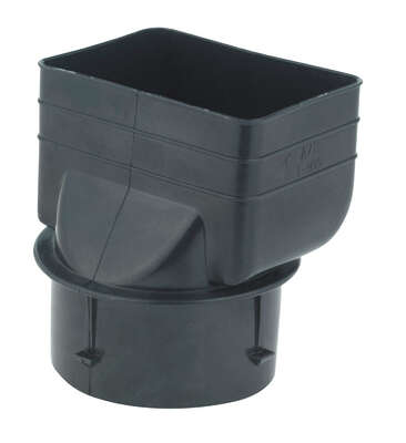 ADS  4-1/4 in. Polyethylene  3 in. Downspout Adapter
