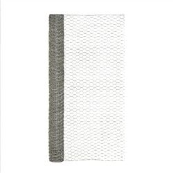 Garden Craft 48 in. H x 25 ft. L 20 Ga. Silver Poultry Netting