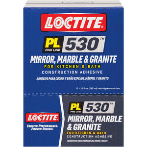 Loctite  PL 530  Synthetic Rubber  Construction Adhesive  10 oz.
