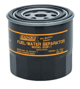 Seachoice  Fuel/Water Seperator and Canister  1 pk Brass