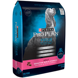 Purina  Pro Plan Focus  Salmon, Oat Meal, Rice  Dry  Dog  Food  30 lb.