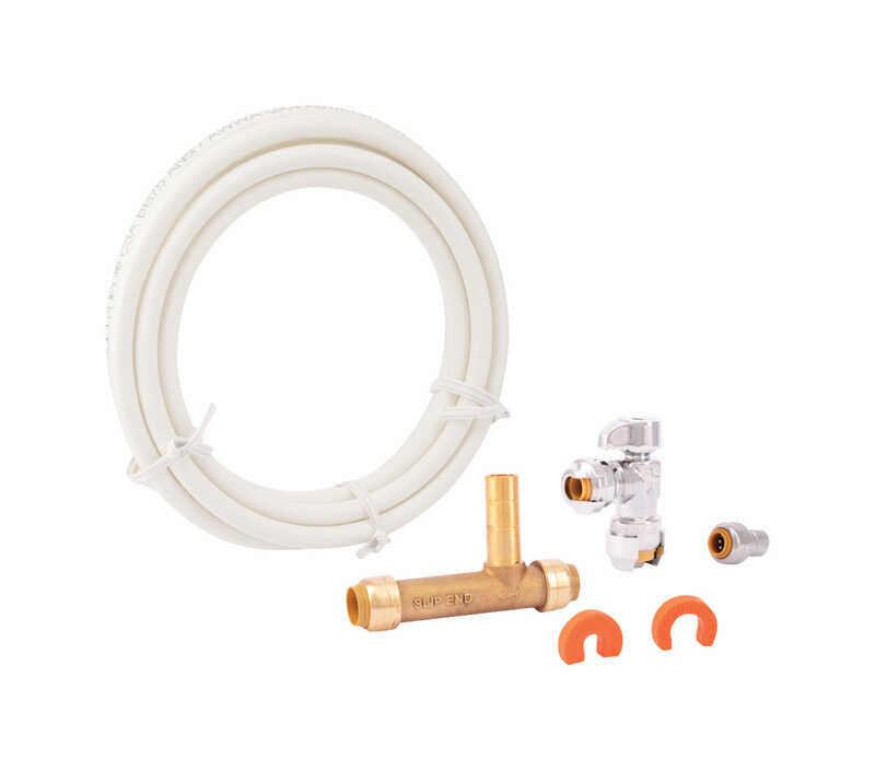 SharkBite  1/4 in. 0.25 in. Dia. Brass  123.5 in. Ice Maker Connection Kit
