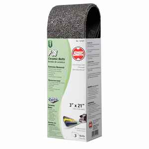 Shopsmith  21 in. L x 3 in. W Ceramic  Sanding Belt  Coarse  3 pk 36 Grit
