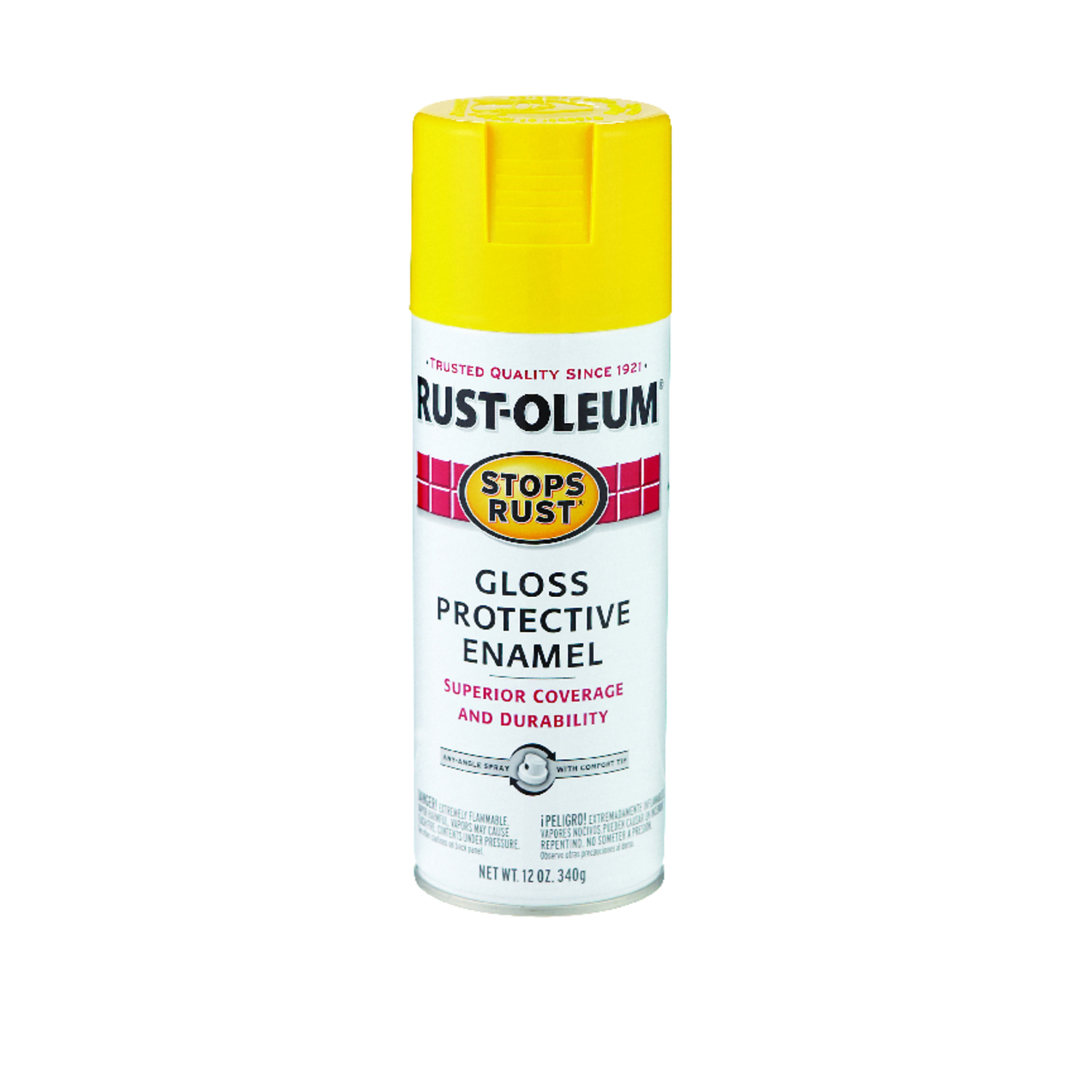 Rust-Oleum  Stops Rust  Gloss  Spray Paint  12 oz. Sunburst Yellow