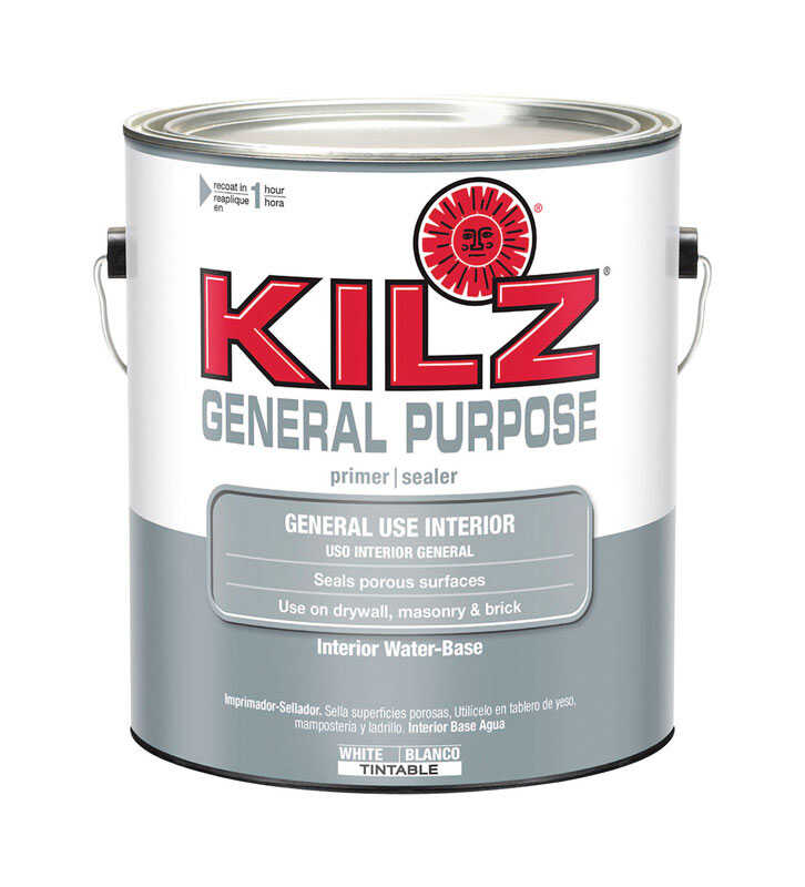 KILZ  General Purpose  Flat  White  Water-Based  Primer and Sealer  For All Surfaces 1 gal.