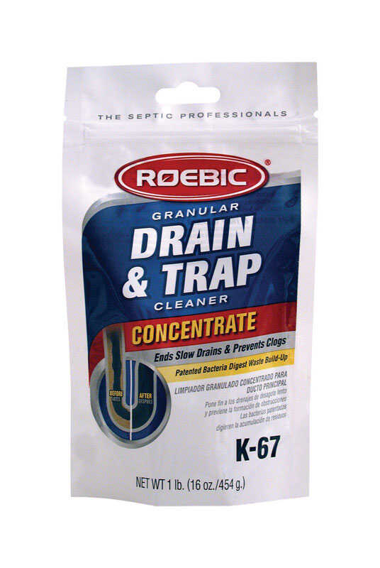 Roebic  K-67  Granules  Drain & Trap Cleaner  16 oz.