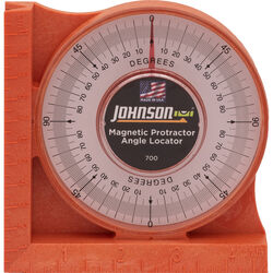 Johnson  4-3/4 in. L x 4-3/4 in. W Angle Finder  Yellow  1 pc.