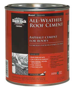 Black Jack  Gloss  Black  Patching Cement  All-Weather Roof Cement  1 qt.