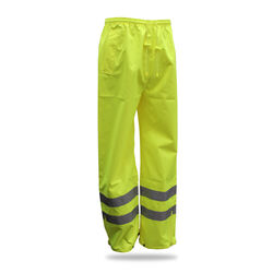Boss  Hi-Vis  Yellow  Polyester  Rain Pants  XXL