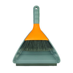 Casabella  9 in. W Soft  Nylon  Broom with Dustpan
