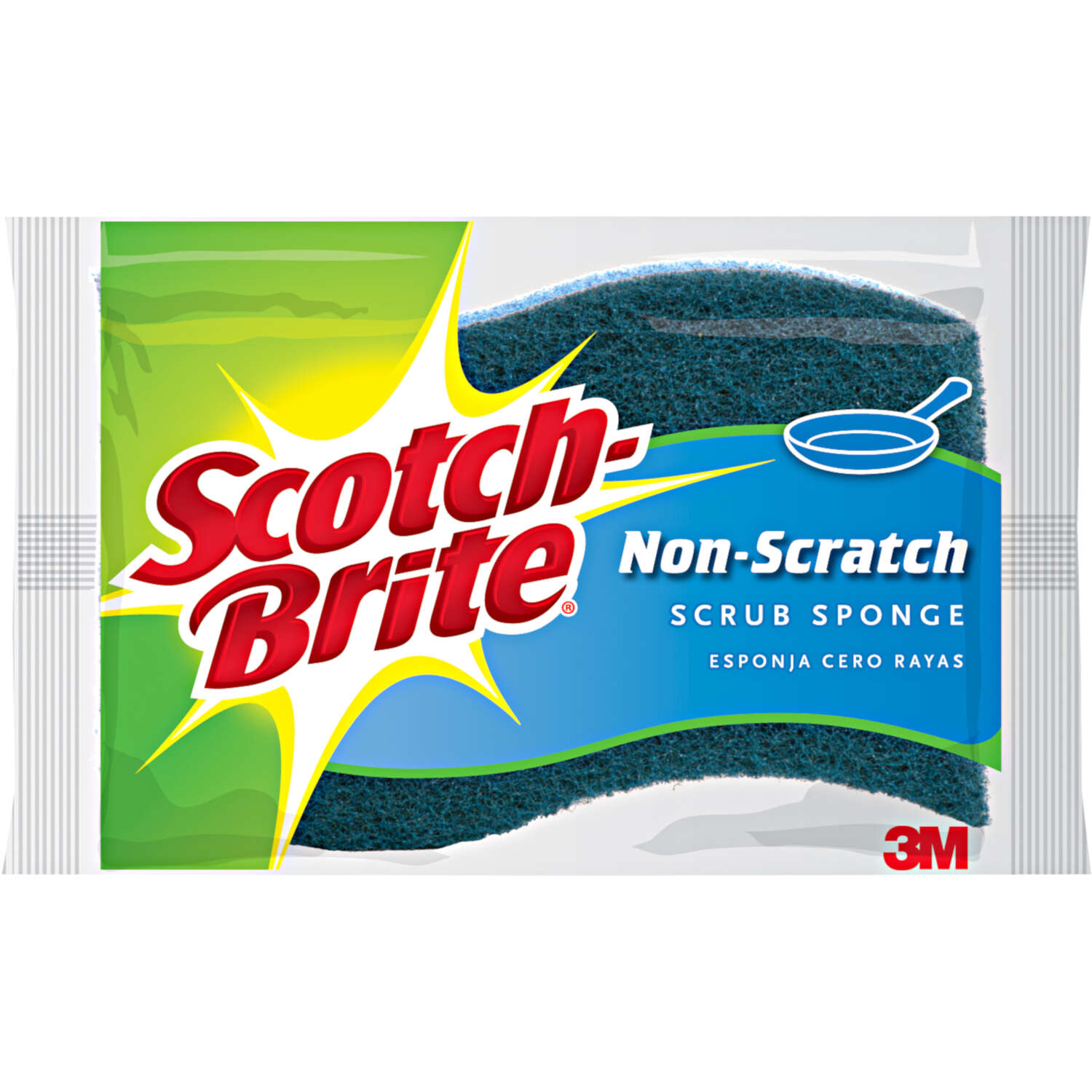 Scotch-Brite  Non-Scratch  Sponge  For Multi-Purpose 4.4 in. L 1 pk