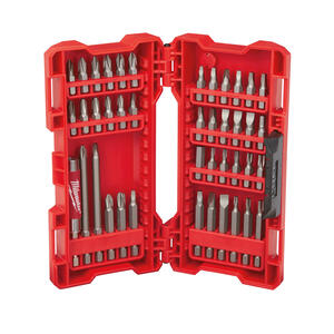 Milwaukee  SHOCKWAVE  Assorted  1-4 in. L Heavy Duty  Screwdriver Bit Set  S2 Tool Steel  42 pc.