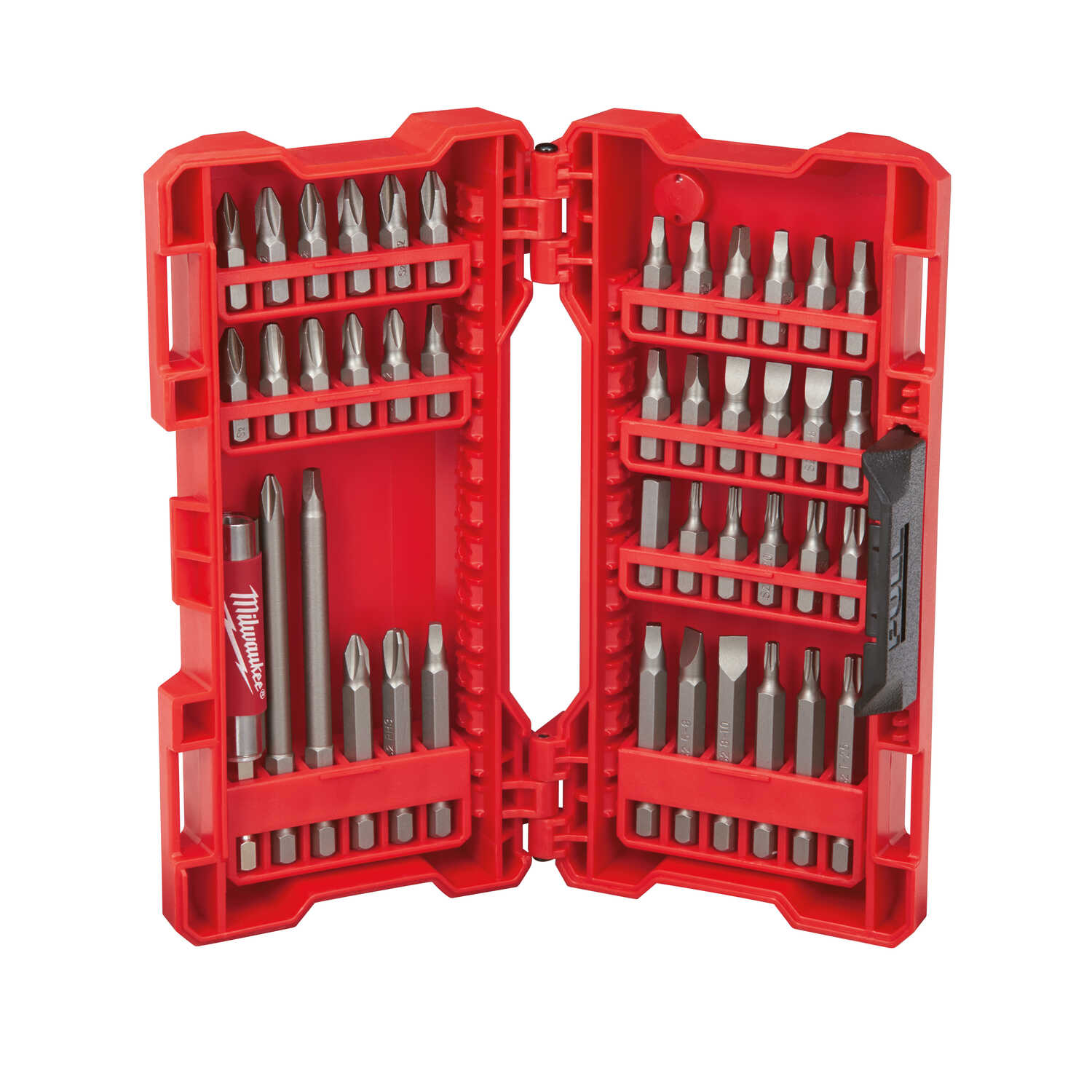 Milwaukee  SHOCKWAVE  Assorted  1-4 in. L Heavy Duty  Screwdriver Bit Set  S2 Tool Steel  1/4 in. He