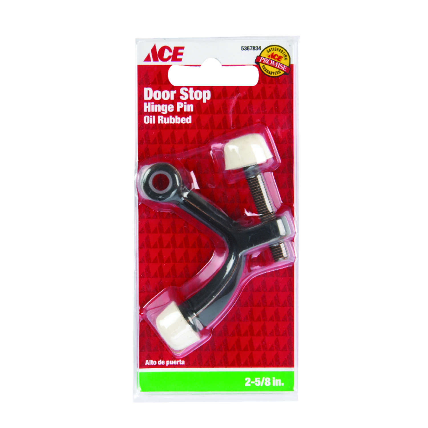 Ace  1.6 in. H x 2-5/8 in. W Metal  Bronze  Oil Rubbed Bronze  Hinge Pin Door Stop  Mounts to door a