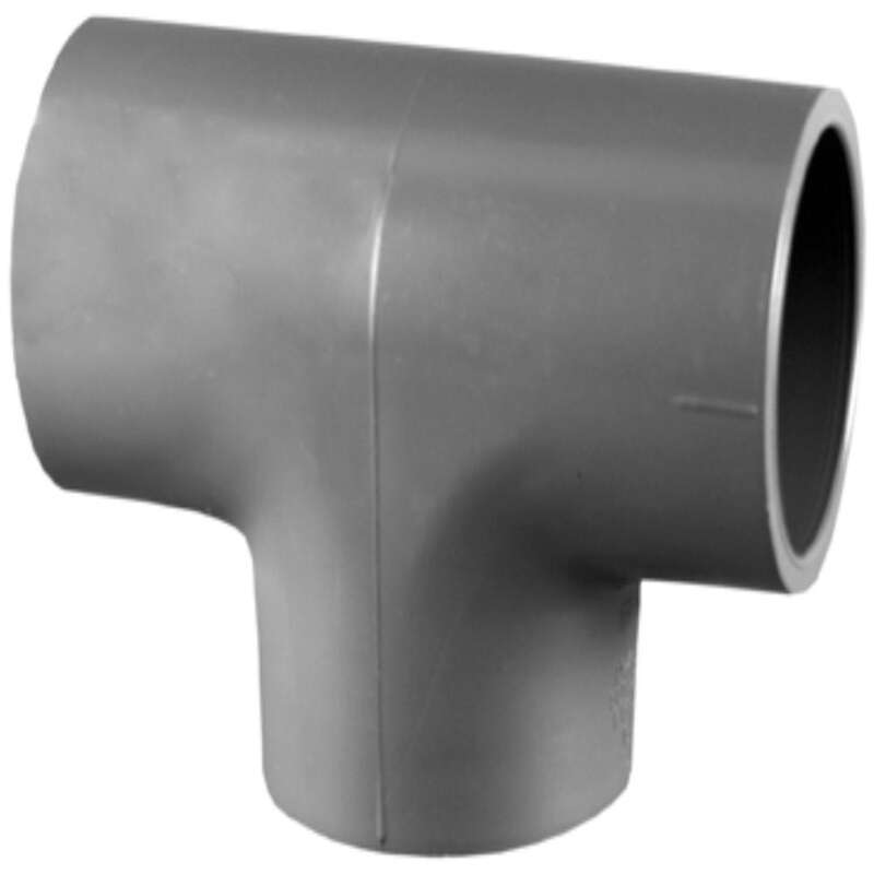 Charlotte Pipe  Schedule 80  3/4 in. Slip   x 3/4 in. Dia. Slip  PVC  Reducing Tee