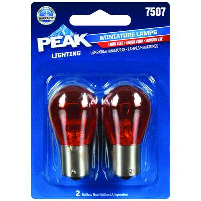 Peak Halogen Parking/Stop/Tail/Turn Miniature Automotive Bulb 7507