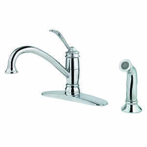 Pfister  Brookwood  One Handle  Polished Chrome  Kitchen Faucet  Side Sprayer Included