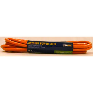 Projex  Indoor and Outdoor  25 ft. L Orange  Extension Cord  16/3 SJTW