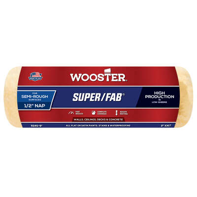 Wooster  Super/Fab  Knit  9 in. W x 1/2 in.  Regular  Paint Roller Cover  1 pk