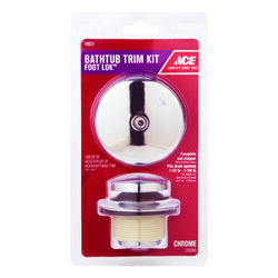 Ace Classic 1 Chrome Plated Foot Lok Stop Bath Drain Trim Kit