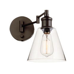 Globe  Leclair  1  Oil Rubbed Bronze  Bronze  Wall Sconce