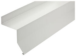 National Hardware  White  Steel  Box Rail End Cap  1 pk