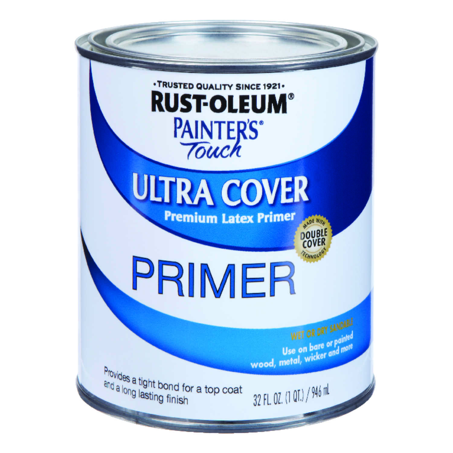 Rust-Oleum  Painters' Touch Ultra Cover  White  Primer  For All Surfaces 1 qt.