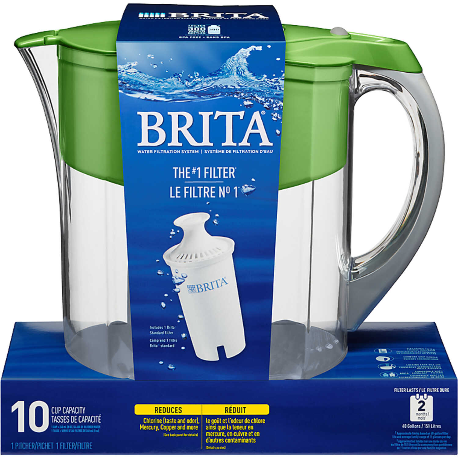 Brita  Green  10 - 8  Green  Grand Pitcher