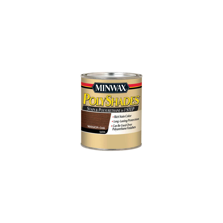 Minwax Polyshades Semi Transparent Satin Mission Oak Oil