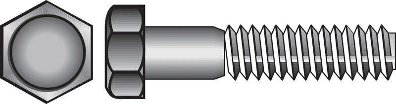 HILLMAN  5/16-18 in. Dia. x 2-1/2 in. L Stainless Steel  Hex Head Cap Screw  50 box