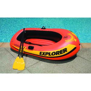 Intex  Orange  Vinyl  Inflatable Boat
