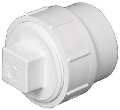 Charlotte Pipe Schedule 40 3 in. Spigot x 3 in. Dia. FPT PVC Cleanout Adapter