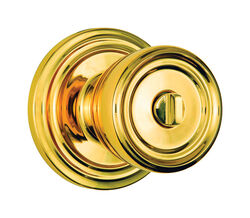 Brinks Push Pull Rotate Barrett Polished Brass Entry Knob ANSI Grade 2 KW1 1.75 in.