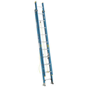 Werner  20 ft. H x 18.13 in. W Fiberglass  Extension Ladder  Type 1  250 lb.