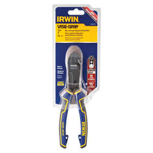 Irwin  Vise-Grip  7 in. Alloy Steel  Leverage Diagonal  Diagonal Pliers  Blue/Yellow  1 pk