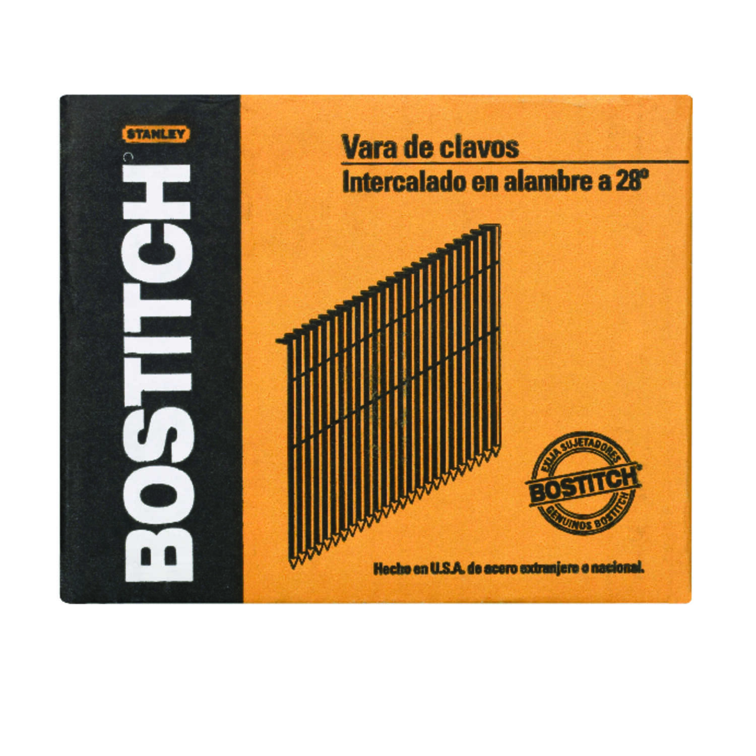 Stanley Bostitch  28 deg. 11 Ga. Smooth  Stick  Framing Nails  3-1/4 in. L 2,000 pc.