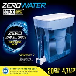 ZeroWater  Ready-Pour  20 cups Blue  Dispenser