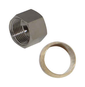 JMF  3/8 in. Chrome  Nut With Sleeve