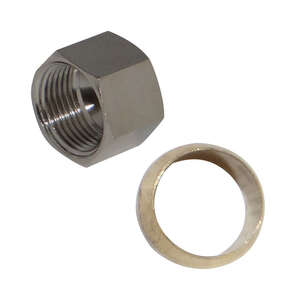 JMF  3/8 in. Dia. Chrome  Lead-Free  Nut With Sleeve