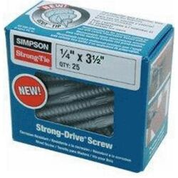 Simpson Strong-Tie  Strong-Drive  No. 3   x 3-1/2 in. L Star  Hex Head Connector Screw  1.1 lb. 25 p