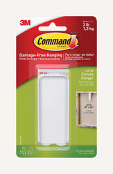 3M Command Plastic Coated White Plastic Canvas Picture Hanger 1 pk 3 lb.