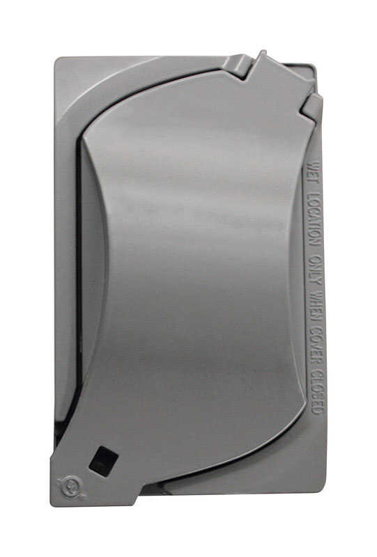 Sigma Electric  Rectangle  Metal  1 gang Universal Cover  For Wet Locations