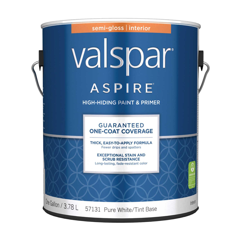 Valspar Aspire Semi-Gloss Tintable Pure White Tint Base Acrylic ...
