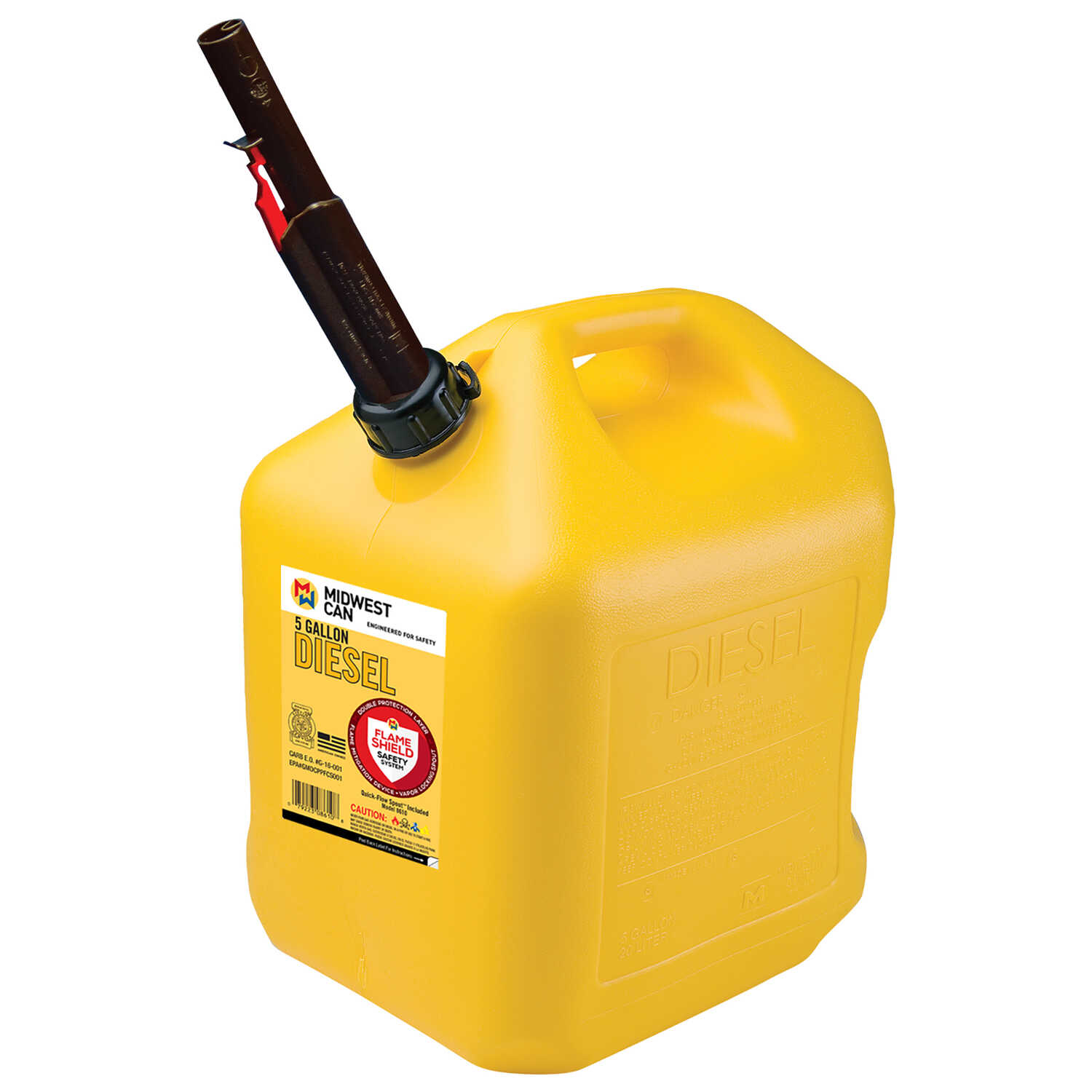 Midwest Can  FlameShield Safety System  Plastic  Safety Diesel Can  5 gal.