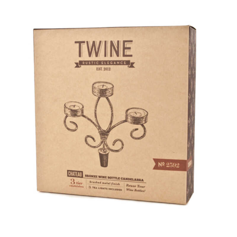 Twine  Wine Bottle Candles  Copper