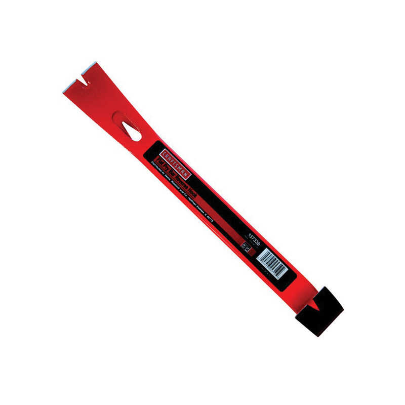 Craftsman  15 in. L x 1-1/2 in. W Steel  Flat Claw  Pry Bar  Red  1 pk