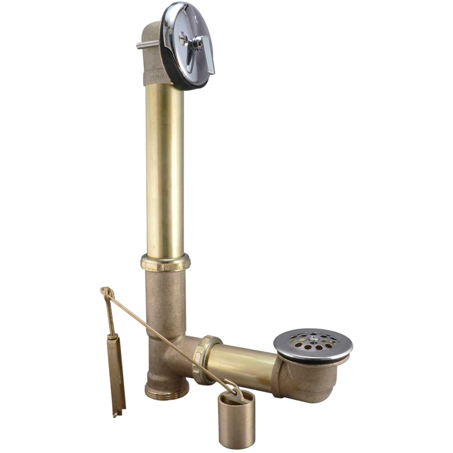 Keeney  1-1/2 in. Dia. Brass  Triplever Bath Drain
