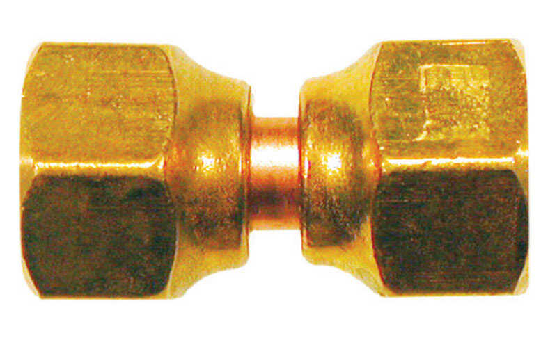 JMF  1/4 in. 1/4 in. Dia. Brass  Swivel Flare Connector