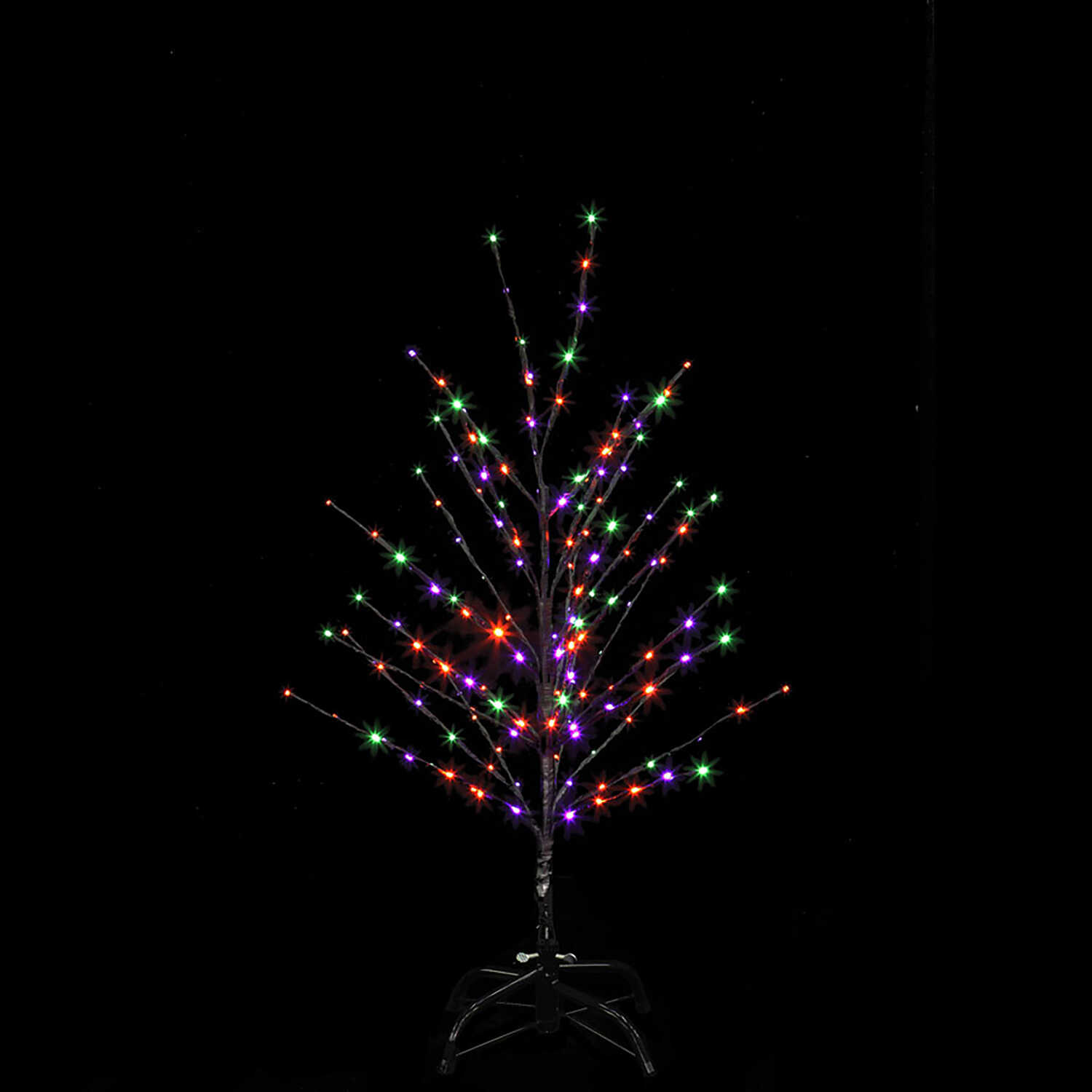 Santa's Best  Twig Tree  Lighted Halloween Decoration  36 in. H x 24 in. W x 24 in. L 1 pk